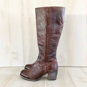 New Bed Stu Fate Brown Leather Knee High Boots 9